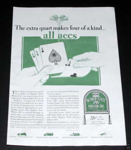 Old , Quaker State Oil, All Aces (1929)