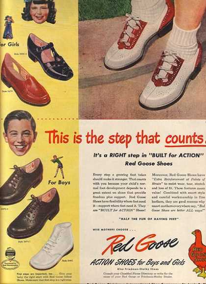 Red Goose's Action Shoes for Boys and Girls (1948)