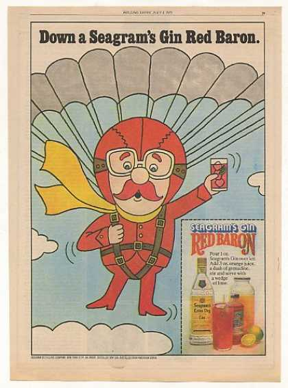 Seagram's Gin Red Baron Color art (1975)