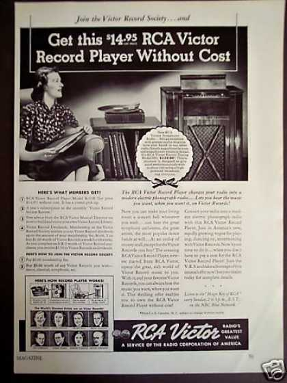 Rca Victor Record Player Offer (1938)