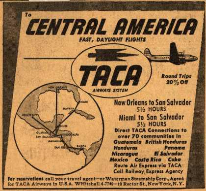 TACA Airways System's Central America – Central America (1947)