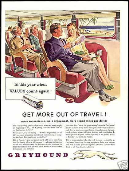Greyhound Bus Get More From Travel (1946)