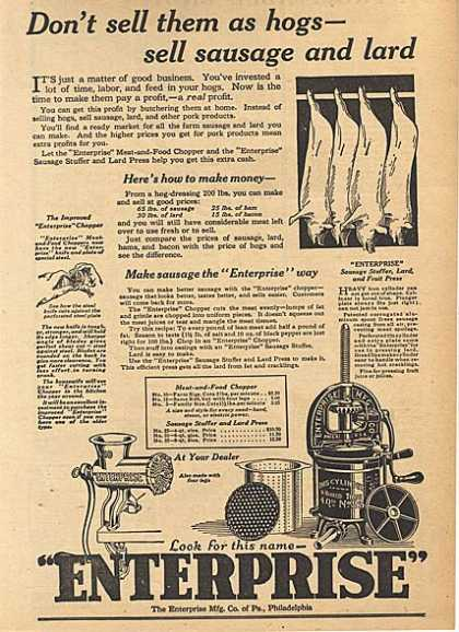 Enterprise's Meat and Food Chopper (1924)