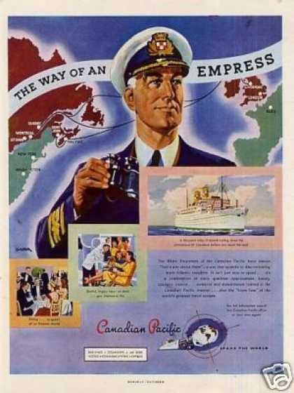 """Canadian Pacific """"White Empress"""" Liner (1947)"""