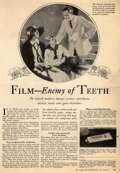 Pepsodent Company's Pepsodent Tooth Paste – Film-Enemy of Teeth (1926)