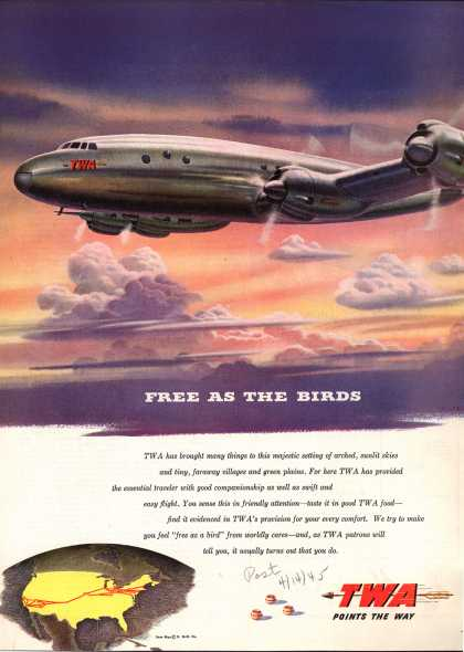 Transcontinental & Western Air – Free As The Birds (1945)
