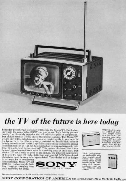 Sony – The TV of the future is here today (1963)