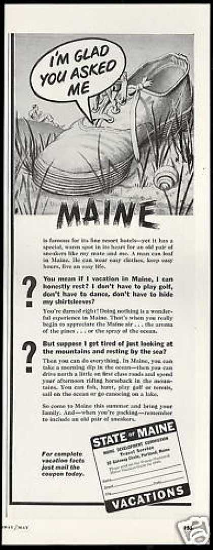 Maine Vacation Travel Old Sneakers (1949)