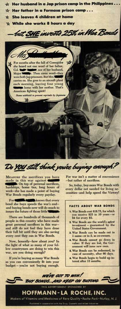 U. S. Government's War Bonds – -but She invests 25% in War Bonds (1943)