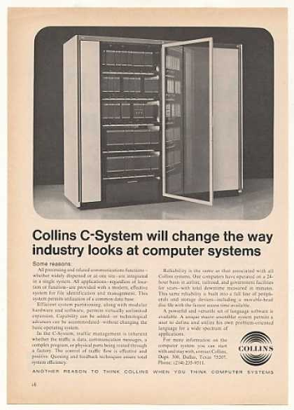 Collins C-System Computer System Photo (1970)