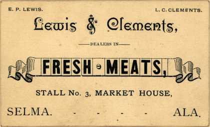 Lewis & Clement's meat – Lewis & Clements, Dealers in Fresh Meats