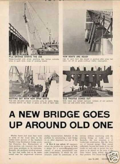 """""""A New Bridge Goes Up Around Old One"""" Article/sp (1968)"""