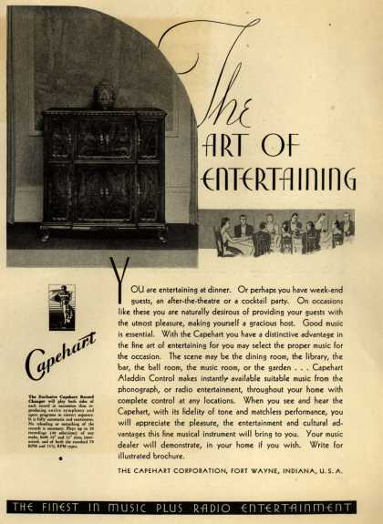 Capehart Corporation's Capehart Record Changer – the Art of Entertaining (1934)