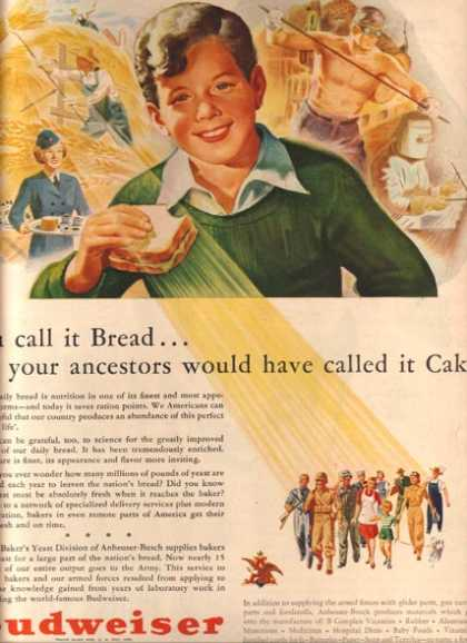 """""""You call it Bread...your ancestors would have called it Cake"""" (1943)"""