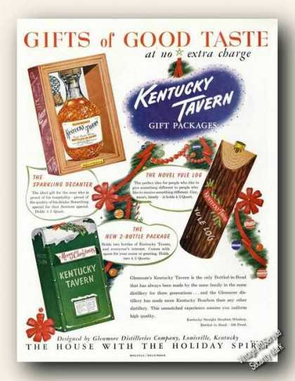 Kentucky Tavern Gift Packages Antique (1949)