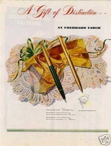 Eberhard Faber Pen Ad 2 Page (1946)