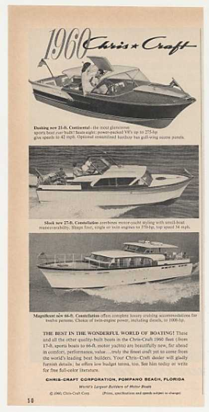 Chris-Craft Continental Constellation Boats (1960)