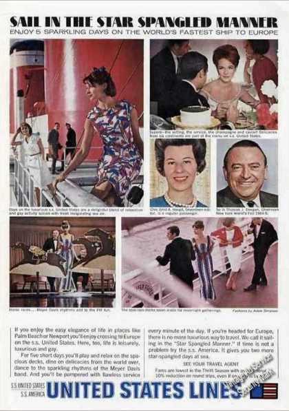 Ss United States To Europe Star Spangled Manner (1963)