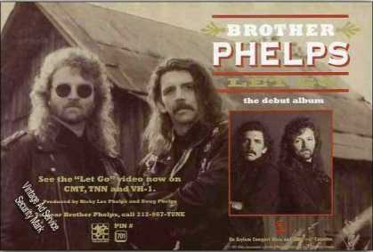 Brother Phelps Photo Country Music Promo (1993)