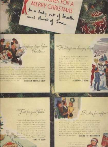 """Campbell's """"Best Wishes for a Merry Christmas"""" (1940)"""