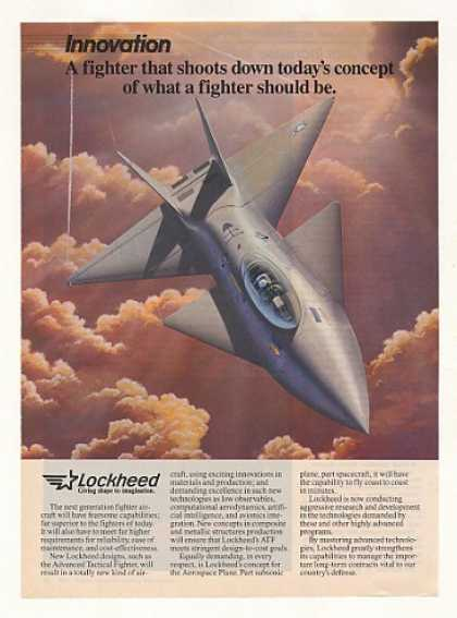 Lockheed ATF Advanced Tactical Fighter Aircraft (1986)