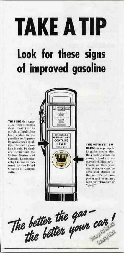 Look for These Signs of Improved Gasoline Ethyl (1940)