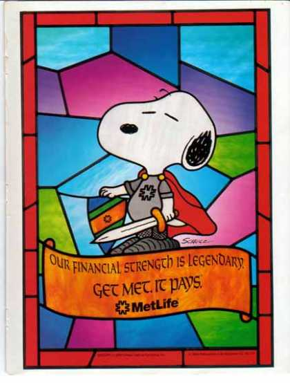Metropolitan Life – Snoopy from Peanuts – Sold (1993)
