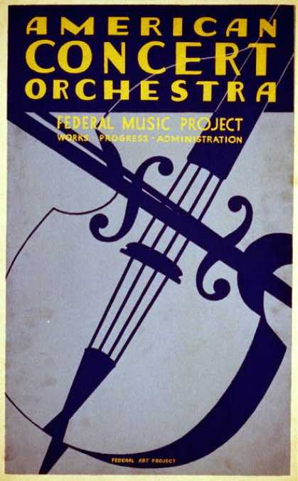 American concert orchestra – Federal Music Project – Works Progress Administration. (1936)