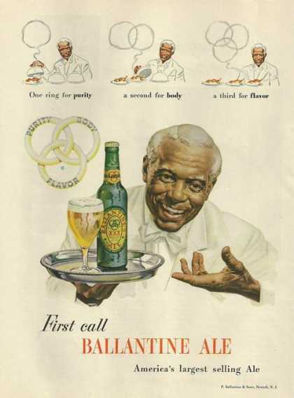 First Call Ballantine Ale Beer (1948)