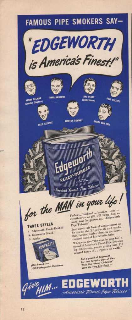 Edgeworth Pipe Tobacco Man In Your Life (1949)