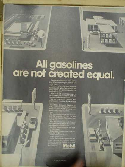 Mobil. All gasolines are not created equal. (1968)