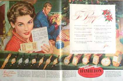 Hamilton Watch Holiday – 2 Pages (1949)