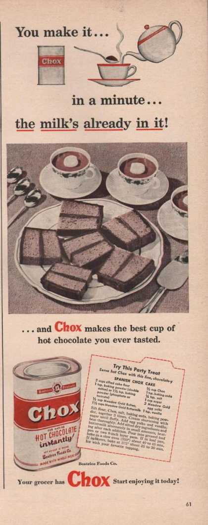 Chox Hot Chocolate Instantly (1949)