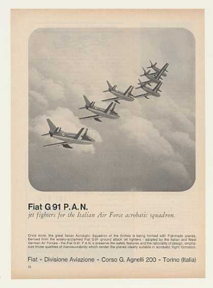 Fiat G 91 PAN Jet Fighters Photo (1964)