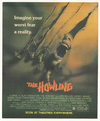 The Howling Movie Vintage (1981)