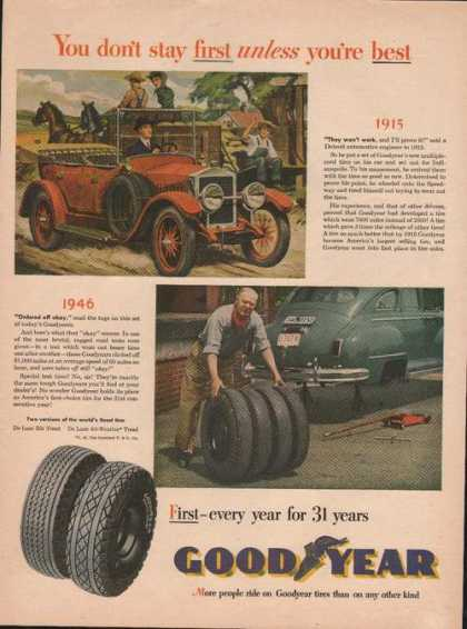Goodyear Tires the Best for 31 Years Print (1946)