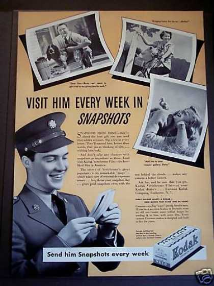 Kodak Film 'snapshots From Home' for Soldiers (1942)