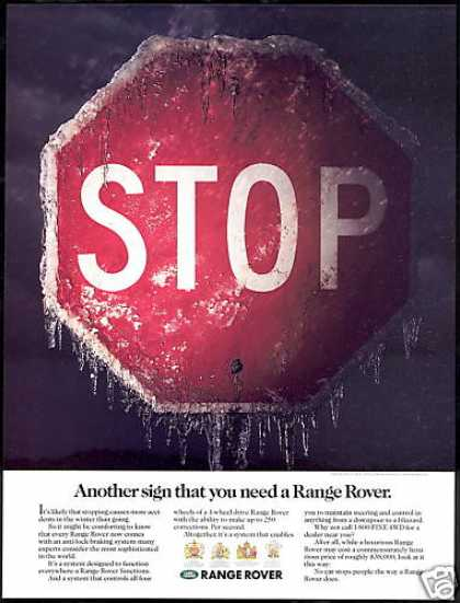 Land Range Rover 4WD Joey Stop Sign (1990)