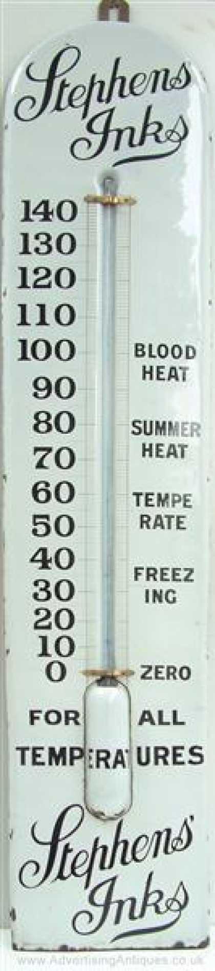 Stephen's Inks Giant Thermometer
