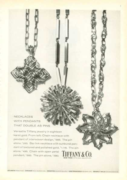 Tiffany Co Necklace Pendant Pins (1972)