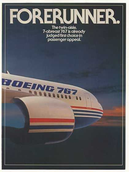 Boeing 767 Jet Airplane Passenger Appeal 3-Page (1982)