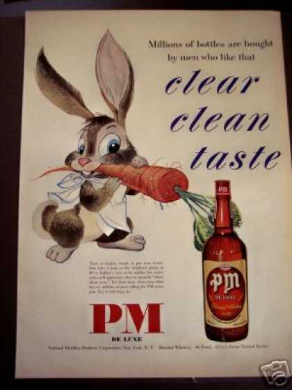 Rabbit and Carrot Art Pm De Luxe Whisky (1950)