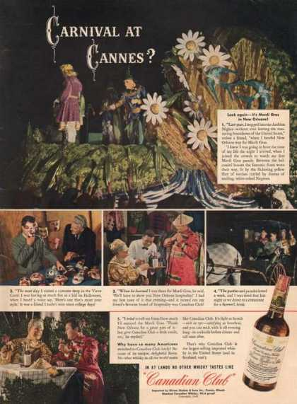 Carnival at Cannes Canadian Club Whisky (1942)