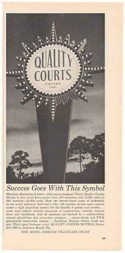 Quality Courts Motel Sign Photo (1963)