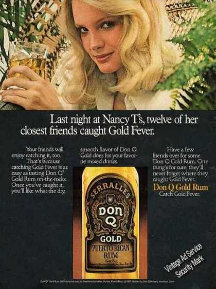 Don Q Gold Puerto Rican Rum Nice Color (1978)