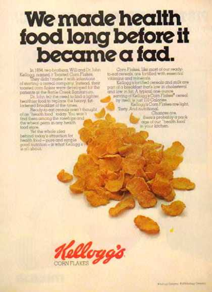 Kellogg's Corn Flakes Cereal – Health food before it became a fad (1976)