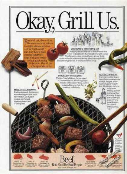 """Beef """"Real Food for Real People"""" Grill Us (1989)"""