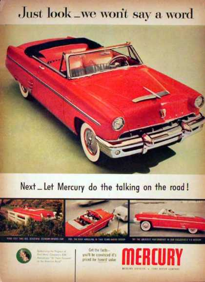 Ford Mercury – Red Convertible V-8 (1953)
