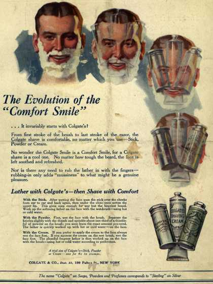 """Colgate & Company's Colgate Products – The Evolution of the """"Comfort Smile"""" (1920)"""