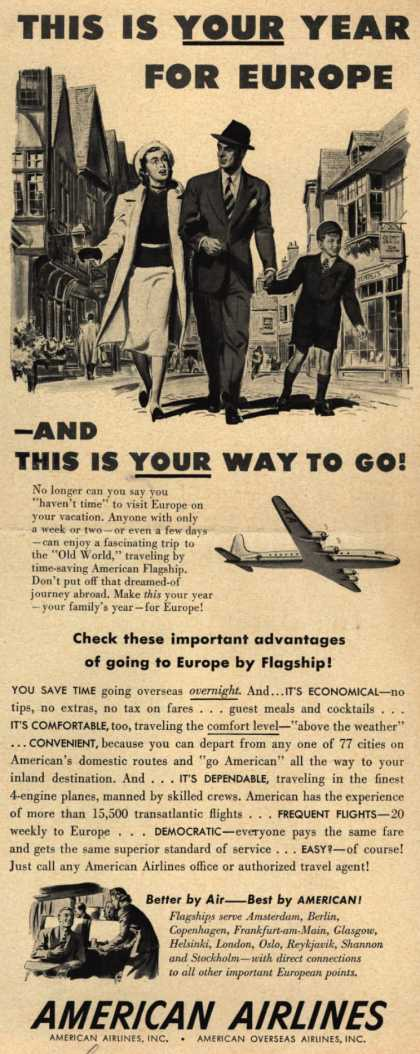 American Airline's Europe – This Is Your Year For Europe – And This Is Your Way To Go (1948)